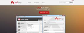 Screenshot Webseite PDFCreator http://de.pdfcreator.org