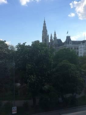 Blick Richtung Rathaus Wien